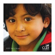 2009 Year in Review - CDA Foundation