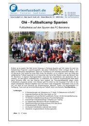 Olé - Fußballcamp Spanien
