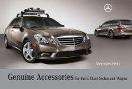 E-Class Sedan Accessories Brochure - Mercedes-Benz USA