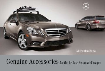 E-Class Sedan Accessories Brochure - Mercedes-Benz USA