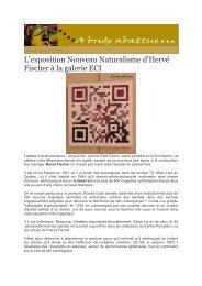 L'exposition Nouveau Naturalisme d'Hervé Fischer à la galerie ECI