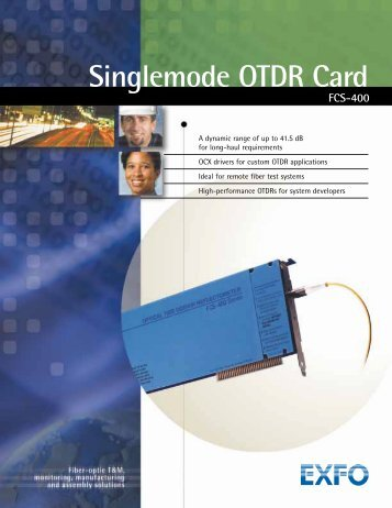 Singlemode OTDR Card FCS-400 - BRL Test