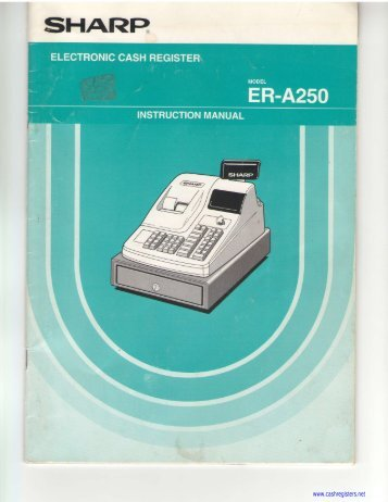 appendix k regist rh yumpu com Sharp XE-A401 Cash Register Sharp Cash Register Xe