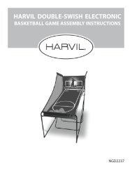 harvil double-swish electronic basketball game assembly instructions