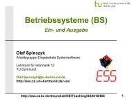 BS: 10 - Ein- und Ausgabe - TU Dortmund