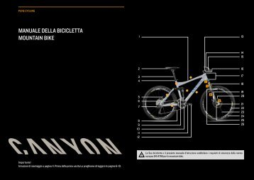 MANUALE DELLA BICICLETTA MoUNTAIN BIkE - Canyon
