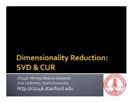 Dimensionality Reduction: SVD and CUR - SNAP - Stanford University
