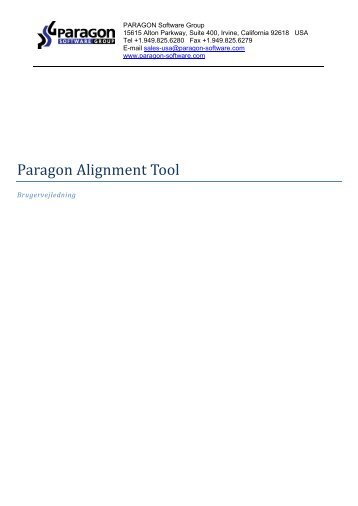 Paragon Alignment Tool - Download - PARAGON Software Group