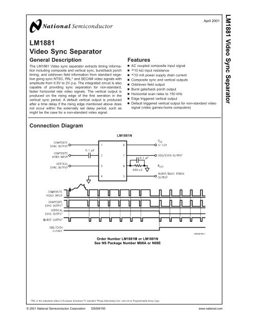 Lm1881 Video Sync Separator Khbo