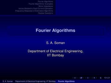 Fourier Algorithms - E-Courses
