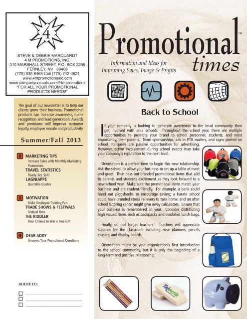 Promotional Times Newsletter
