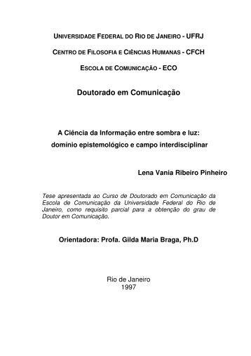 Doutorado em Comunicação - ridi - Ibict