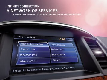 A NETWORK OF SERVICES - Infiniti Owner Portal