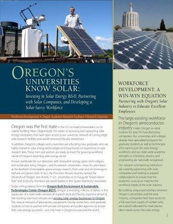 OREGON'S - Solar Monitoring Lab - University of Oregon