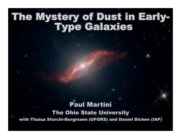 The Mystery of Dust in Early- Type Galaxies - Berkeley Cosmology ...