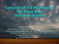 Concerns On The IPCC Report - Climate Science: Roger Pielke Sr.