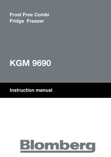 Instruction manual KGM 9690 - Blomberg