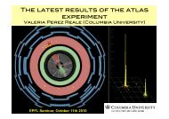 The latest results of the atlas experiment - EPFL