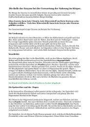 Enzyme im Körper - Peter-weck.de