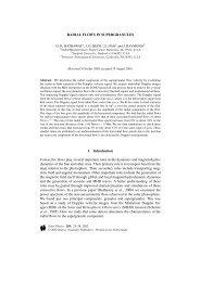 Radial Flows in Supergranules - NASA/Marshall Solar Physics