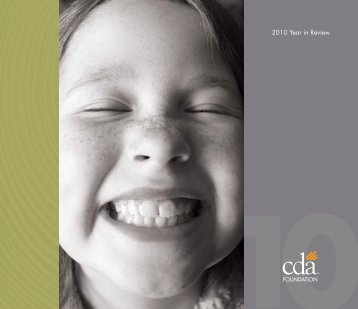2010 Year in Review - CDA Foundation