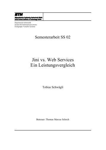 Jini vs. Web Services Ein Leistungsvergleich - Jan Newmarch