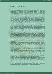 Module 6: Learning objectives - E-Courses