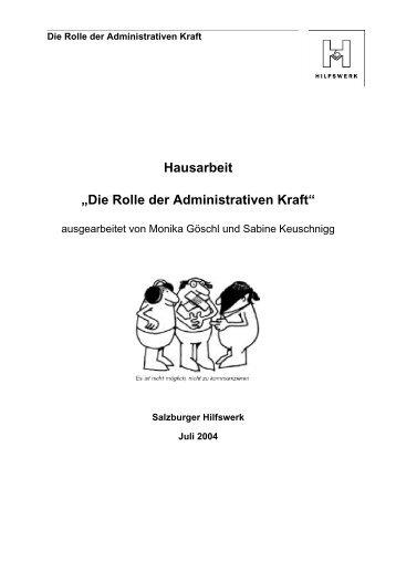 """Hausarbeit """"Die Rolle der Administrativen Kraft"""" - Seite wir geladen..."""