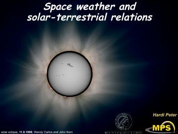 Space weather and solar-terrestrial relations
