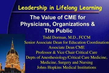 presentation (PDF) - Hopkins CME Blog