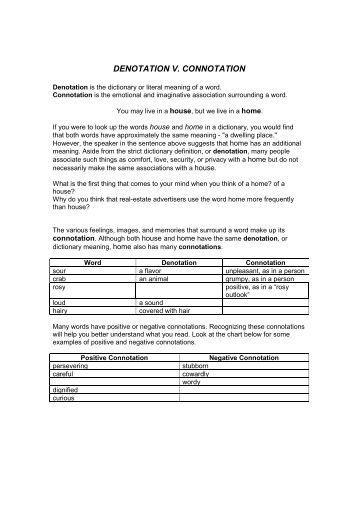 worksheets connotation vs denotation worksheet opossumsoft worksheets and printables. Black Bedroom Furniture Sets. Home Design Ideas