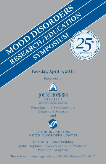 Mood disorders - Hopkins CME Blog
