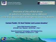 Analysis of the Orbital Decay of Spherical Satellites Using Different ...