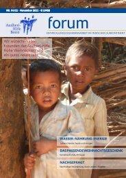 forum Magazin - Andheri-Hilfe Bonn