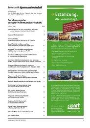 Zeitschrift Sonderausgabe: Verkehr/Kommunalwirtschaft