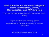 Multi-Dimensional Minimum Weighted Norm Interpolation, Survey ...