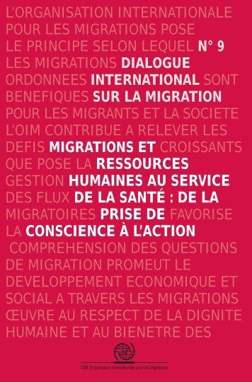 Migrations et Ressources Humaines au service ... - IOM Publications