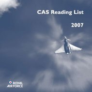 CAS Reading List 2007 - Royal Air Force Centre for Air Power Studies