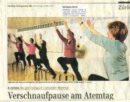 2008-03-27 Zürichsee Zeitung: Verschnaufpause am Atemtag - sbam