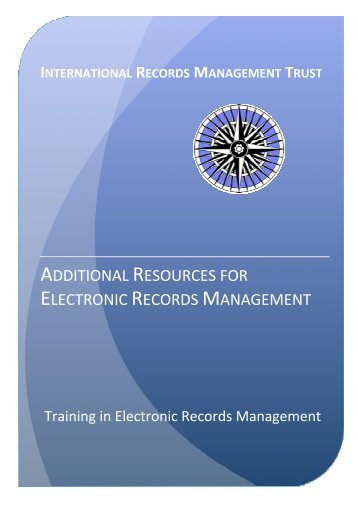 additional resources for electronic records management