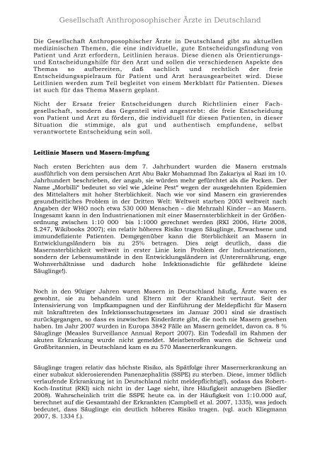 GAÄD-Leitlinie Masern und Masernimpfung - Gesellschaft ...