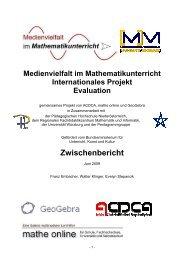 Zwischenbericht - Regionales Fachdidaktikzentrum MAthematik und ...