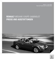 renault mégane coupé-cabriolet preise und ausstattungen