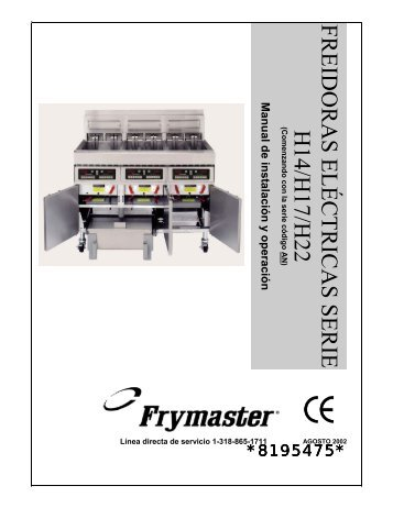 freidoras electricas - Frymaster