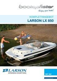 Larson LX 850 Komplettangebot - zu Boote Pfister