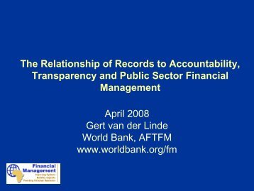 Capacity and Accountability - International Records Management Trust