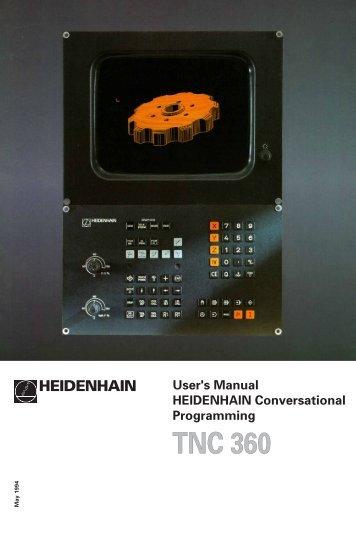 User's Manual TNC 360 (from 259 900-11) - heidenhain