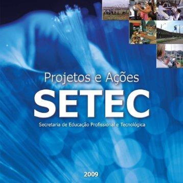 Secretaria de Educação Profissional e Tecnológica - Portal do ...