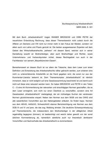 Strr 2008, S. 301 - Strafverteidiger Rainer Brüssow & Dirk Petri
