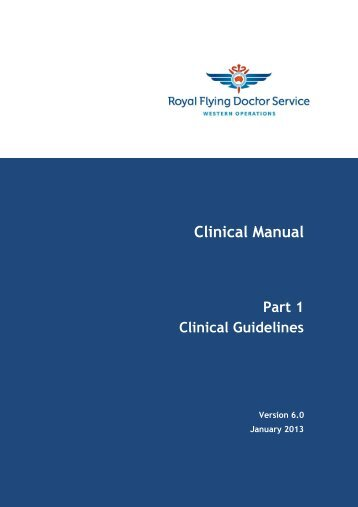 Clinical Manual - RFDS - Health Professionals - Royal Flying Doctor ...